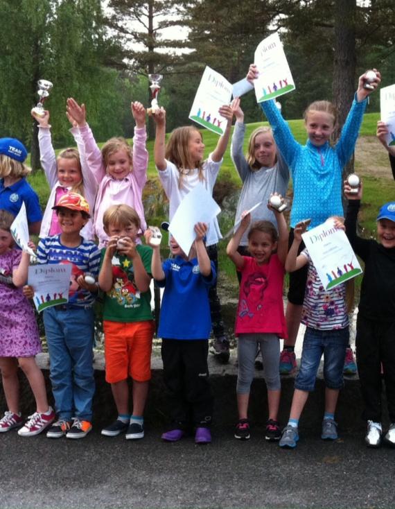 Team Onsøy Junior i aksjon ved Skjeberg Golfbane
