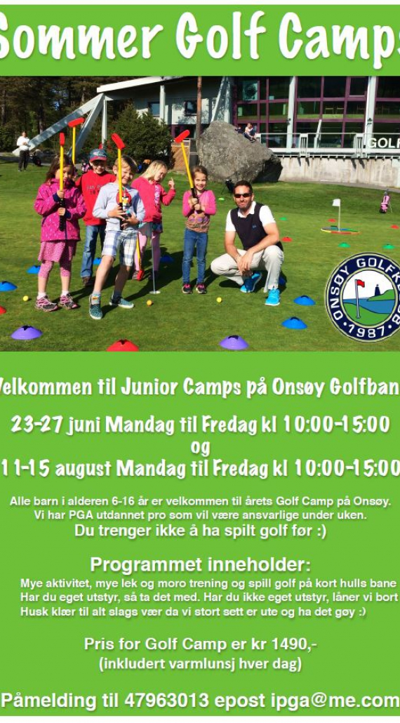 Sommer Junior Golf Camps