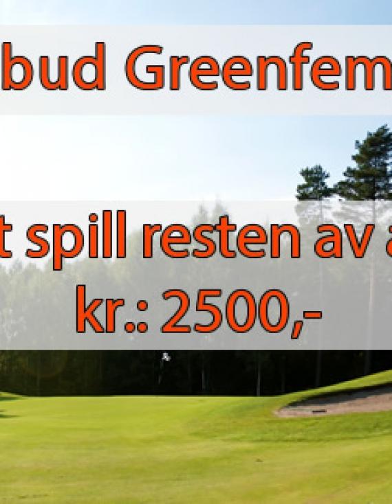Greenfee tilbud ut 2014