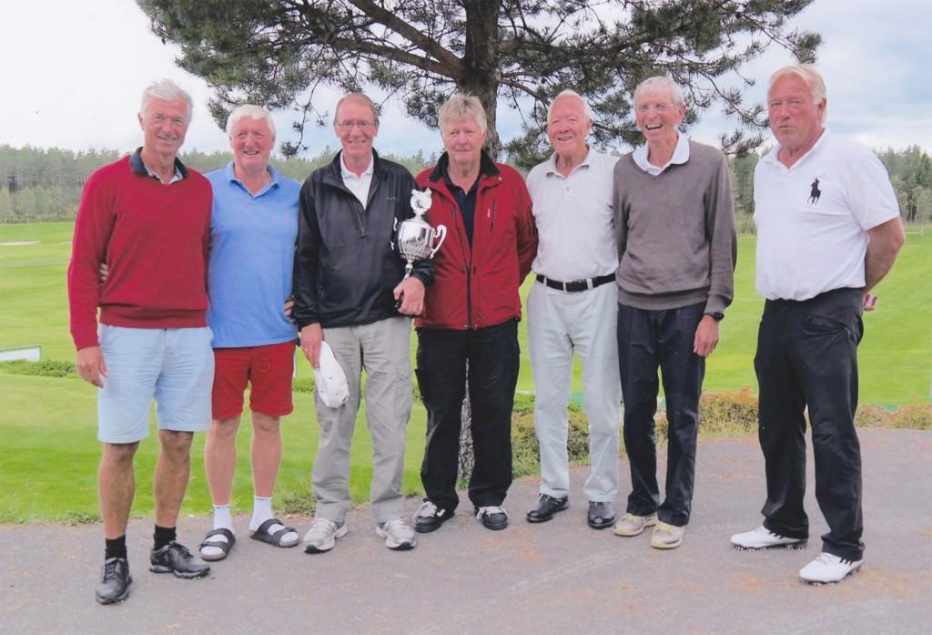 Fra venster: Ola Bøe, Roy O.Jensen, Kjell Løkkeberg, Torbjørn Kristiansen, Gunnar Melby, Ulf Bertil Jansson og Jan Myhre