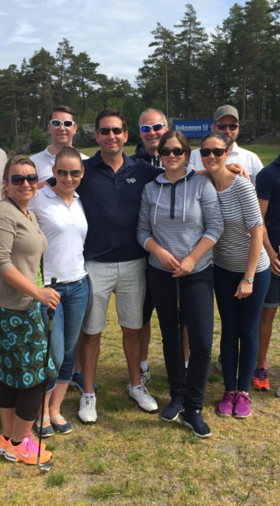 Nye golfere på VTG-Kurs.