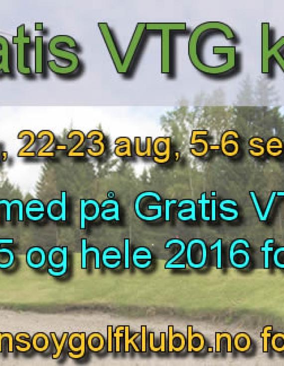 Gratis VTG kurs ut 2015