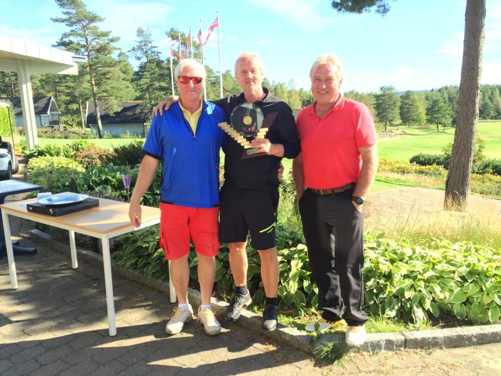 Seniorklassen ble vunnet av Magne Kristinasen i midten. Roy O. Jensen til venster ble nr. 2 og Jan Myhre nr. 3